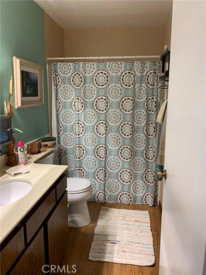 Guest bathroom - Extra flooring to match in garage