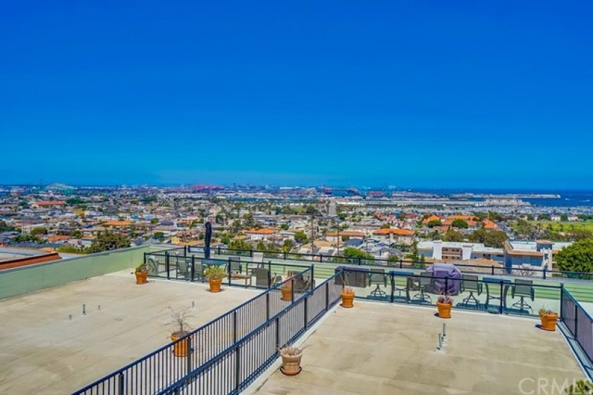 ROOFTOP DECK for all residents with 180 degree views of ocean and harbor