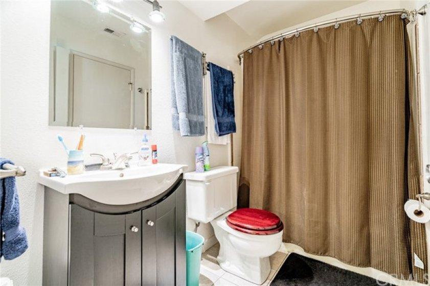 Main Bedroom bath has tub/shower combo.