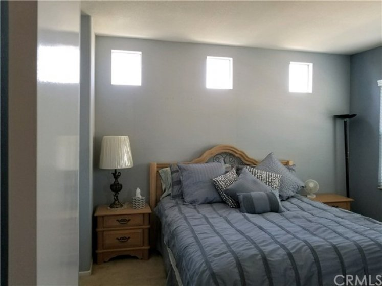 Master bedroom with lots of natural lighting!