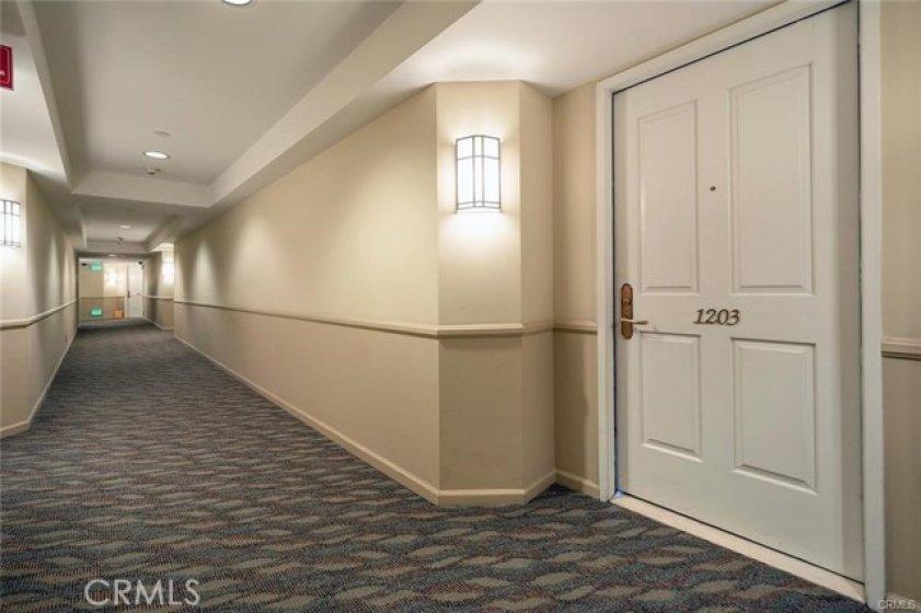 hallway to the Unit door