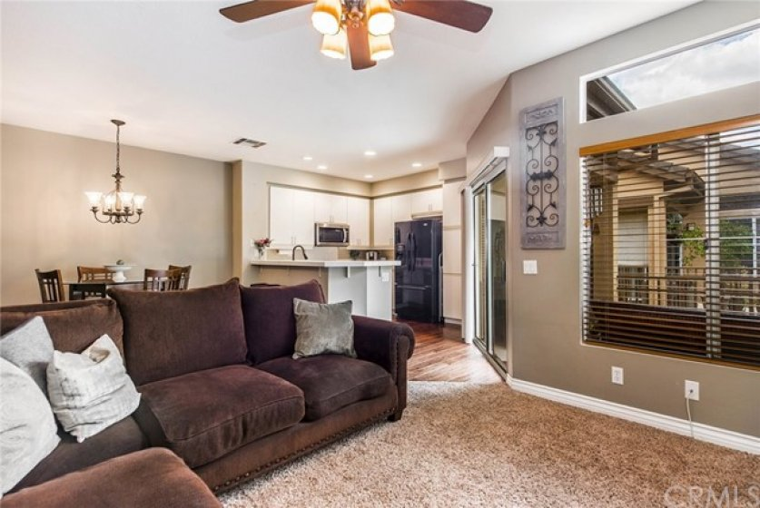 Living room can accommodate a large sectional!