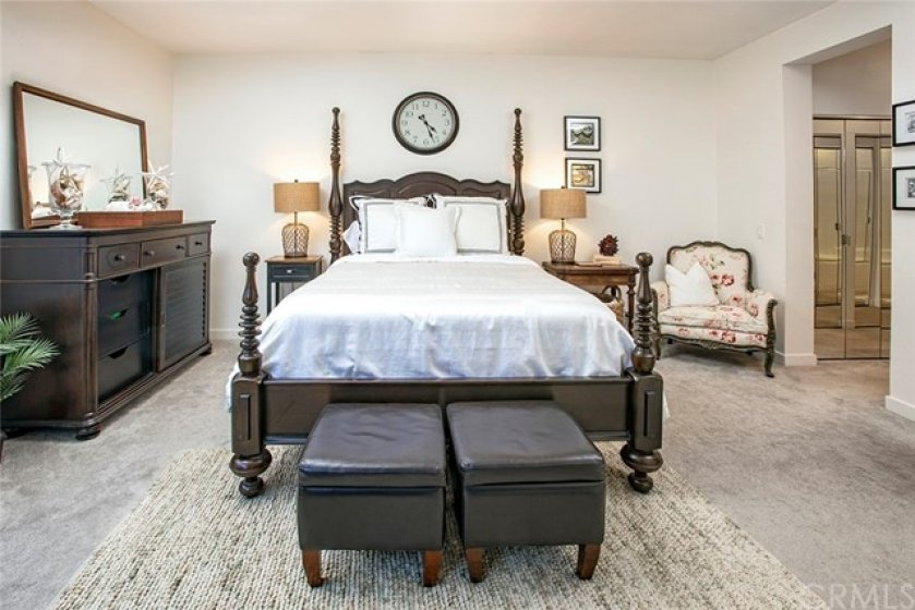 This is only a partial view of the very large master bedroom, you really have to see it in person to appreciate the space.