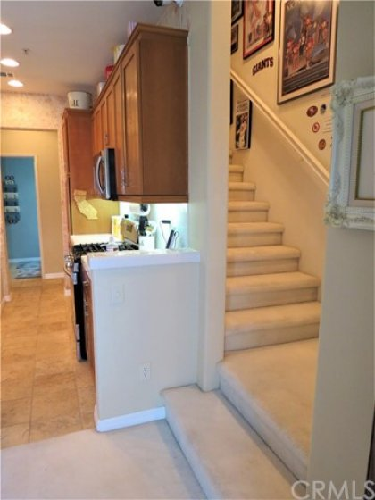 Stairway to game room retreat