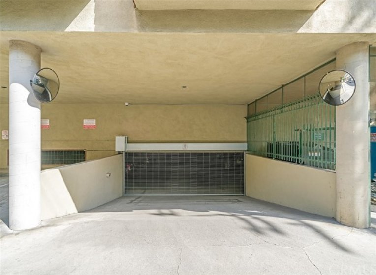 Gated Garage with 2 parking spaces