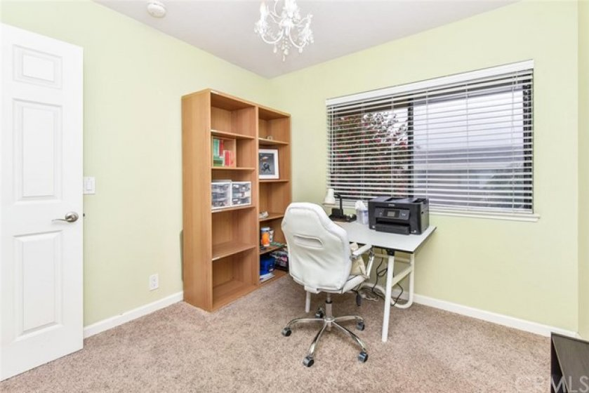 Third bedroom used as home office
