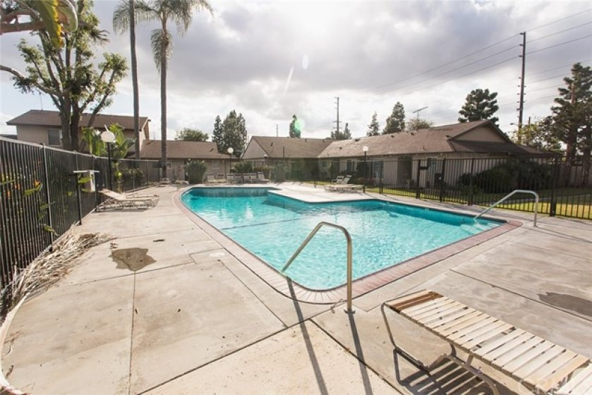 Community pool right around the corner from unit #84.