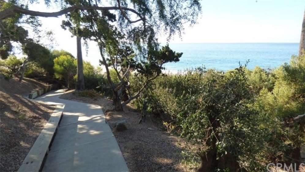 Private association walkway to the beach