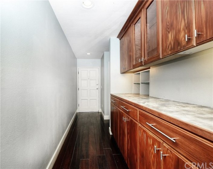 Hallway with Storage Cabinets