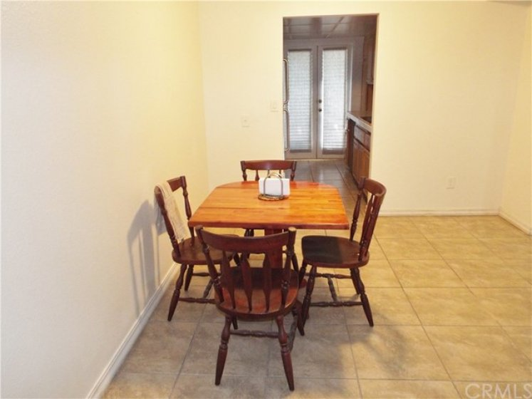 Large dining area between the living room and kitchen.