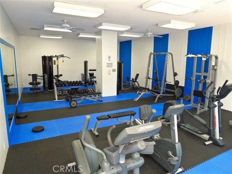 Fully stocked gym