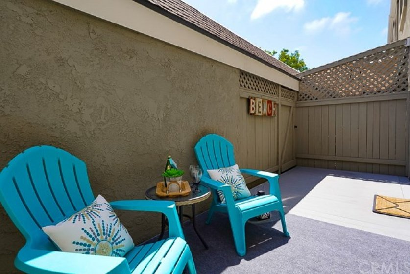 Private patio , perfect for those lazy sunny days, or your favorite pet lounging in their own space. ;-)
