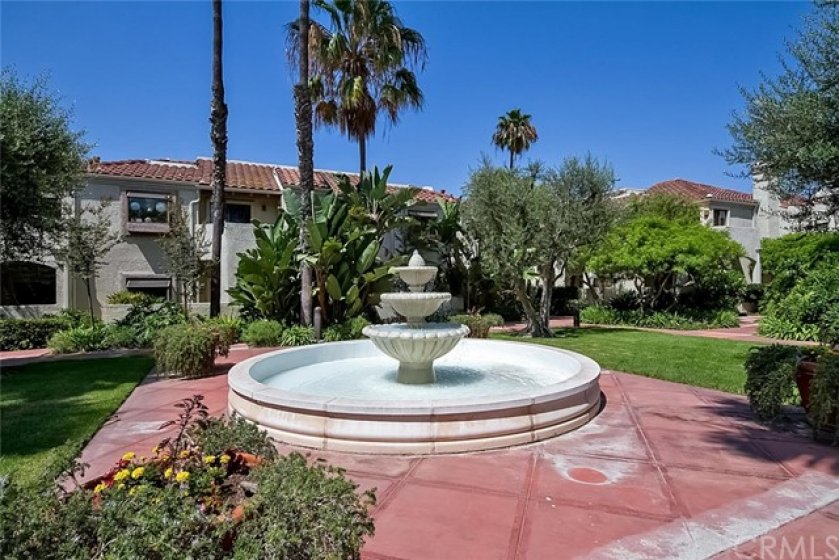 Your home and patio are overlooking this peaceful fountain