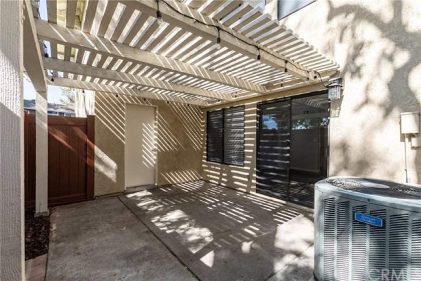 Patio with direct Garage Accesss