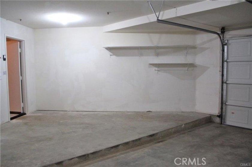 Extra garage storage area