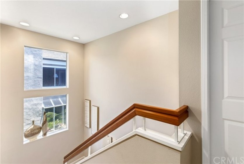As an end unit there is lots of light with the windows on the side of the home.
