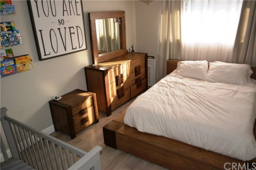 This Master Bedroom can fit a king size bed frame, dresser, night stands and a crib and still have plenty of space to walk around without feeling cramped; a truly unexpected treat.