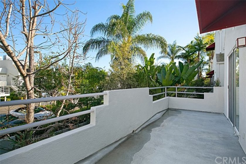 Large balcony off living area