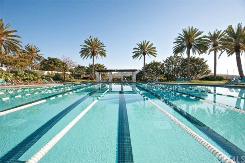 Community pool is great for exercise