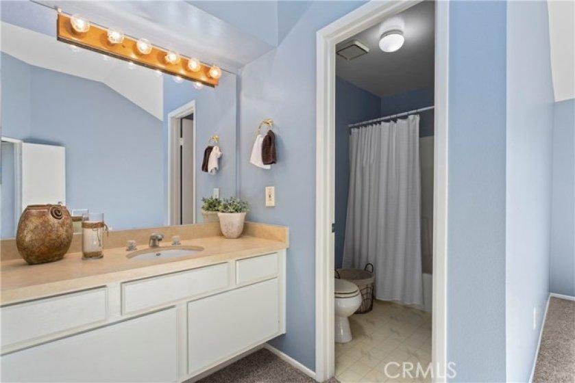 Vanity and Full Bath.