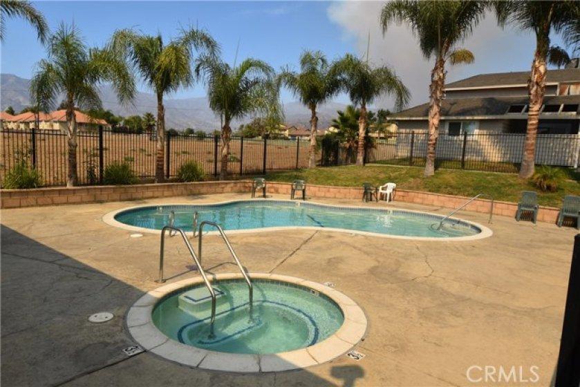 Community Pool & Spa area.