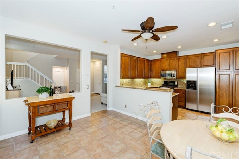 Large open main floor with spacious kitchen and living areas.