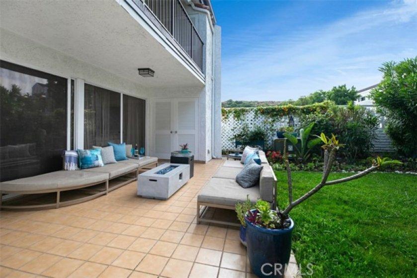 Garden patio of the unit. Relax & enjoy!