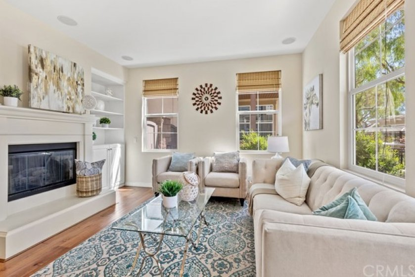 High ceilings and large windows provide an open and spacious feel in the Living Room.