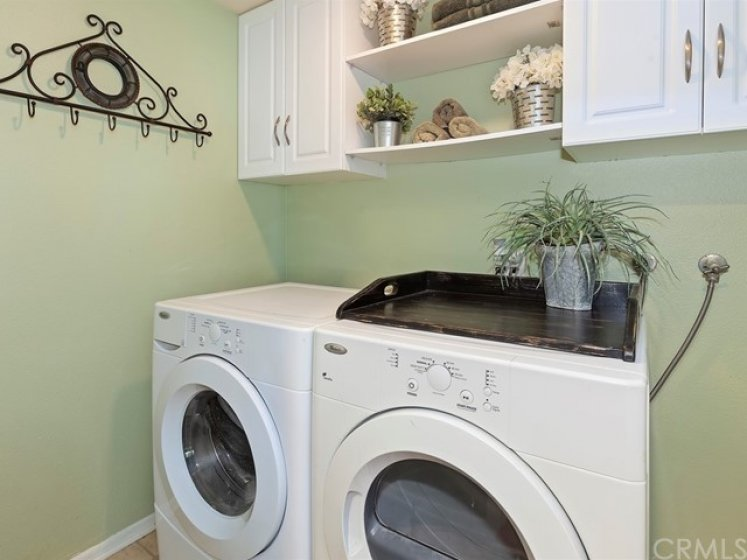 Interior Laundry Room.  Washer and Dryer Included!