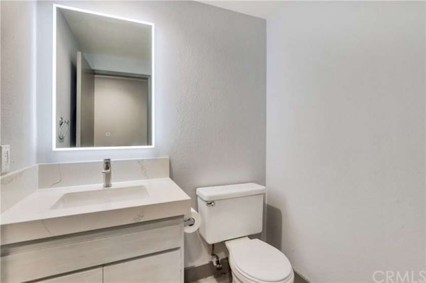 1/2 bath for guests on main level.