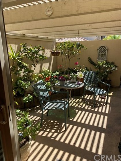 Private patio off of master bedroom with direct access to garage