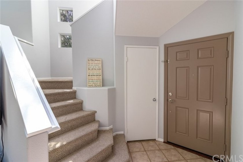 Entry and stairway to second floor bedrooms