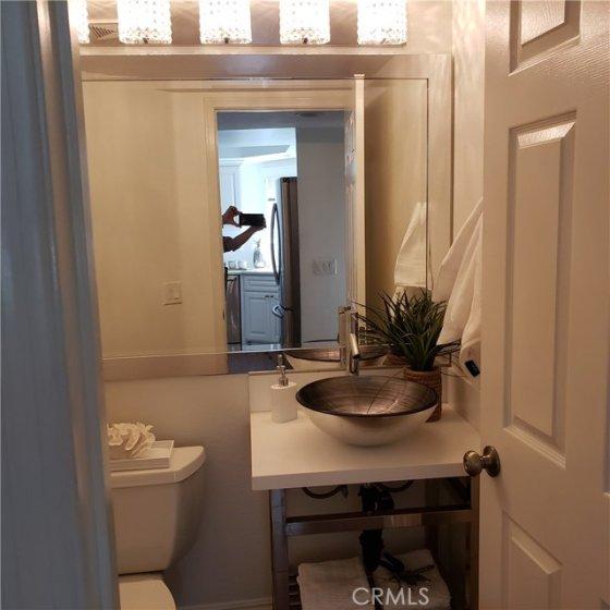 bathroom off the kitchen