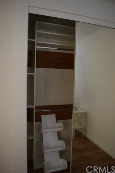 Built-ins in the 2nd bedroom closet