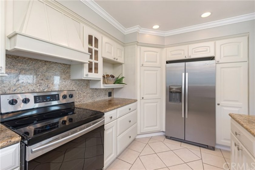 Lots of kitchen storage.  Refrigerator / Freezer with Ice Maker is included.