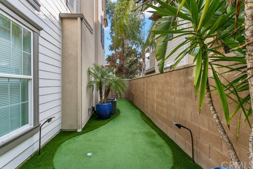 Putting green with 3 holes with varied breaks, up and down hill roll will challenge the golfer in the family.