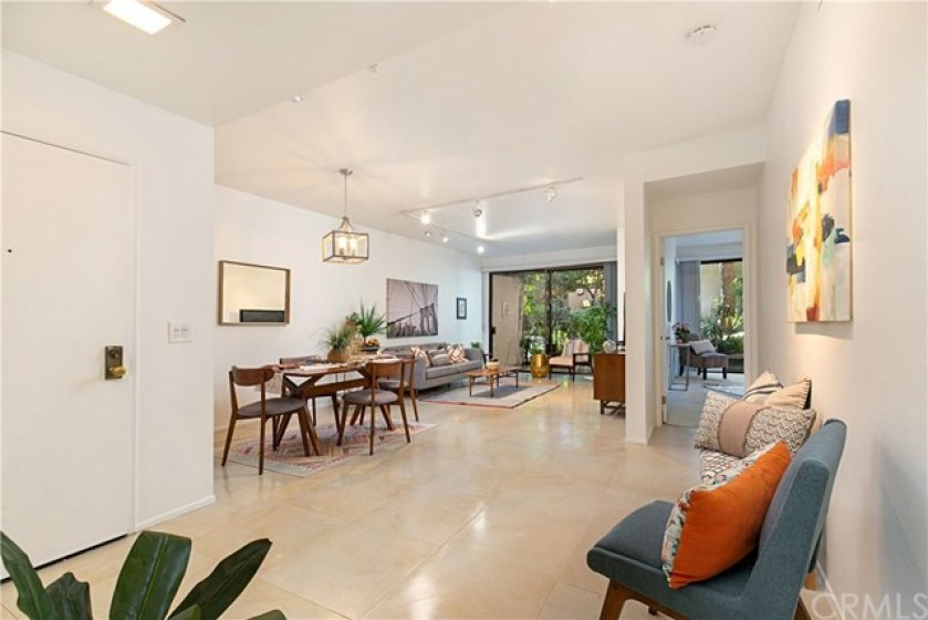 High ceilings and open floorplan give this condo a great feel.