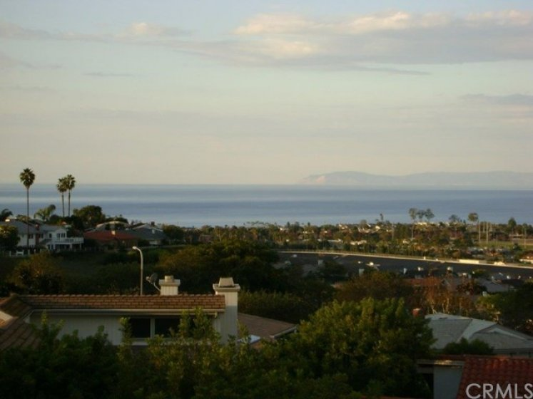 View to Catalina and Pacific Ocean