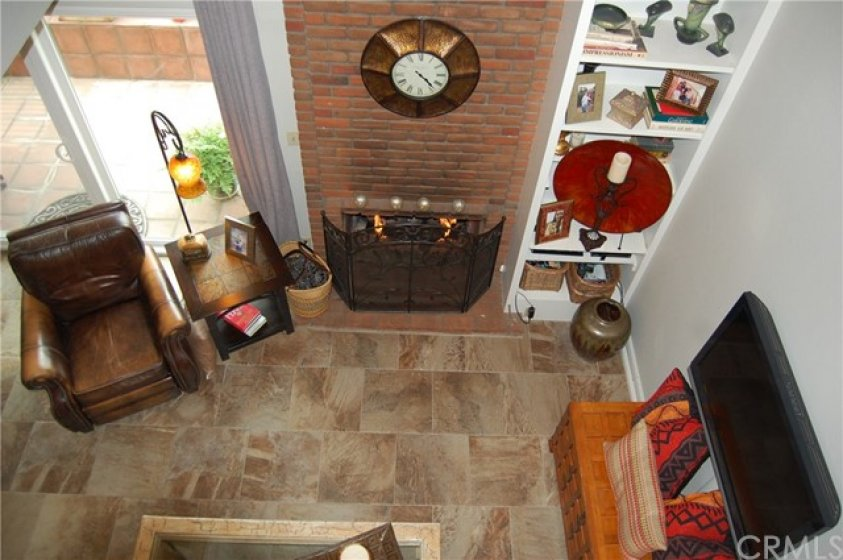 View of Living Room from the Loft Area