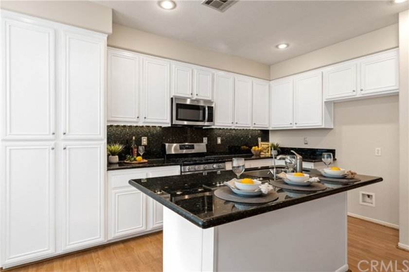 Ample cabinet space in the kitchen