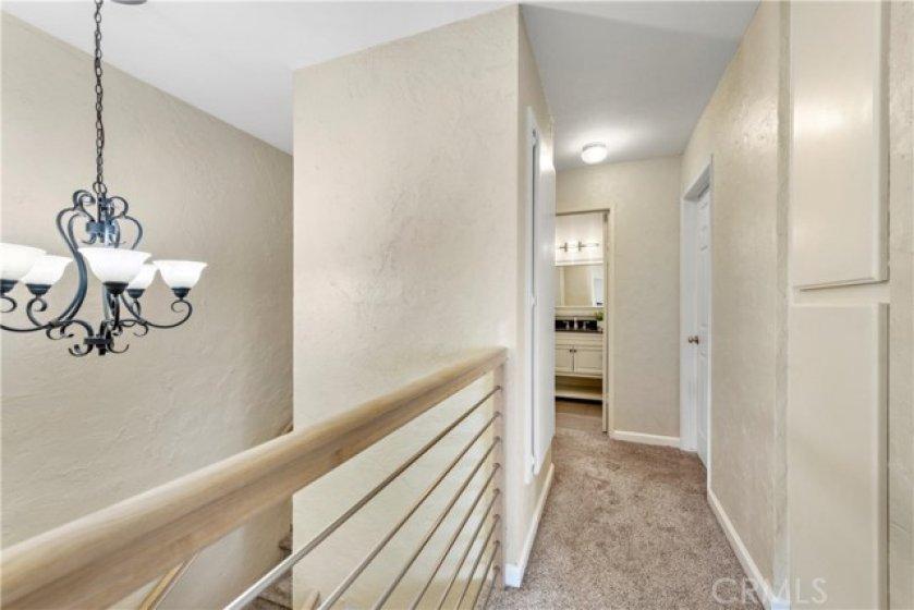 Custom lighting and handrail.