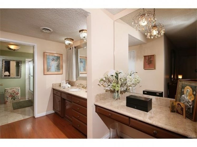 Master Bathroom and Vanity.