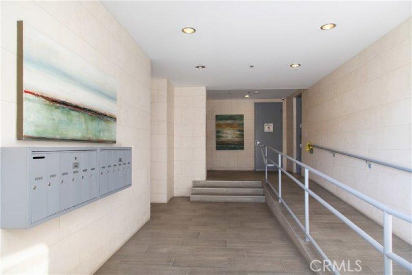 Lobby of Oceanside Condos.