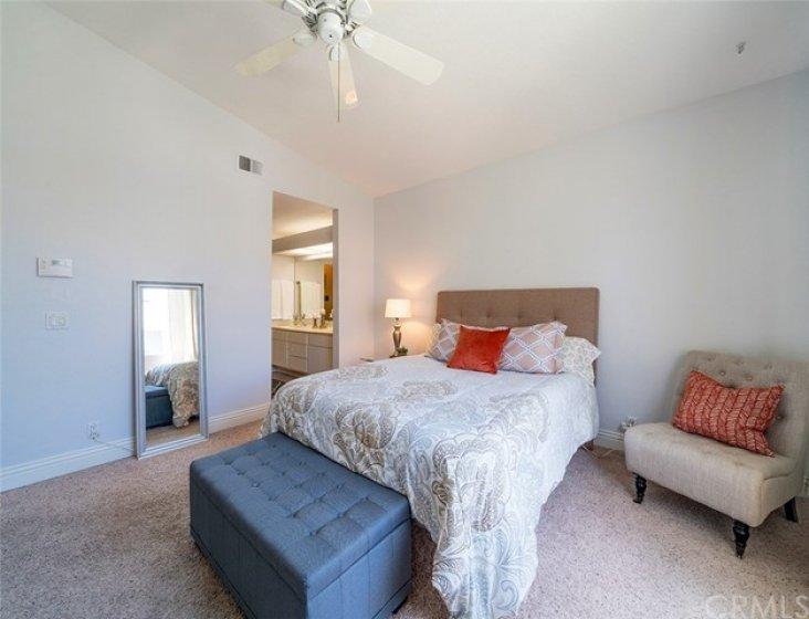 Master bedroom has attached en suite bathroom and walk in closet