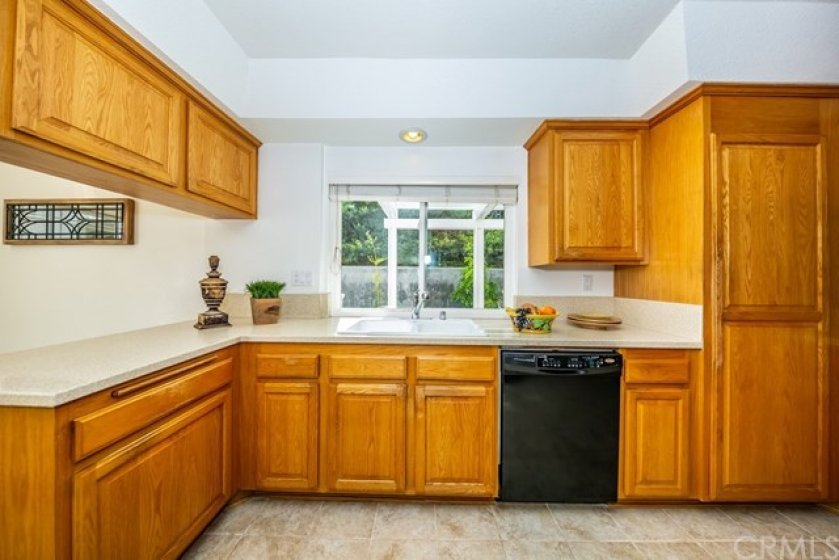 Recessed lighting and plenty of counter space.