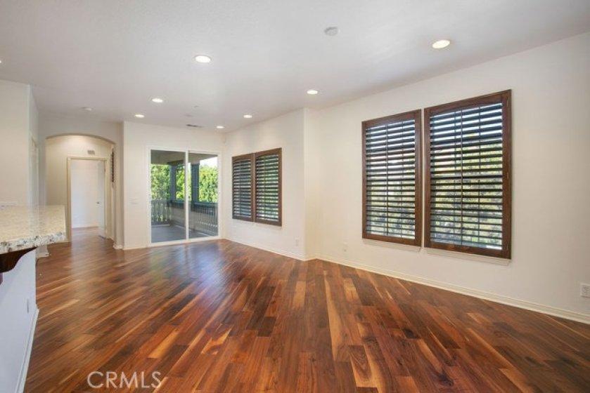 Stunning hardwood floors throughout the condo.