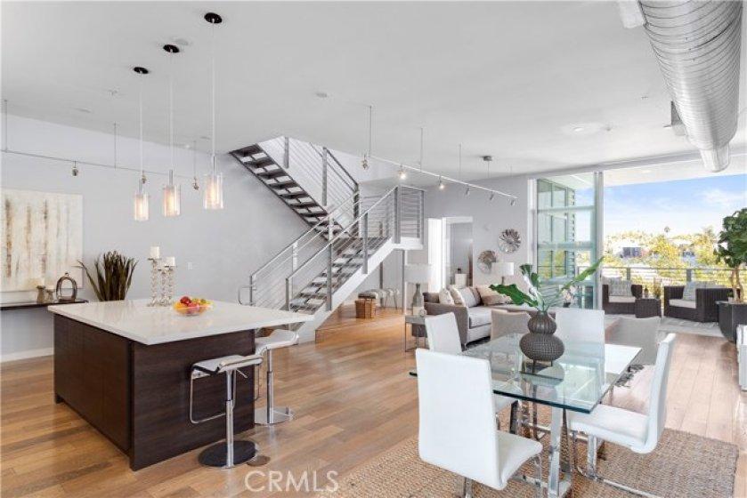 Open Floor. Sliding Doors Open Up To Balcony. Indoor/Outdoor Living.