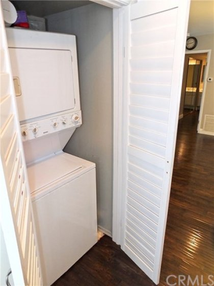 Stackable Washer & Dryer Included!