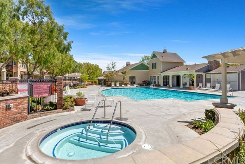Community pool, spa and clubhouse are just steps from the home.