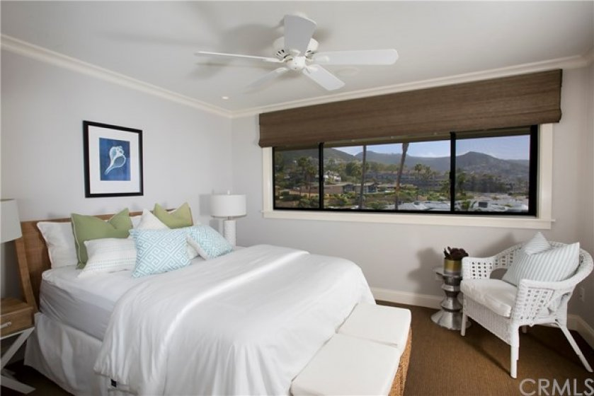 GUEST BEDROOM OVERLOOKS MONTAGE RESORT AND SPA